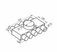Schita tehnica ALLVENT ENGINEERING - Distribuitor plat 10x75