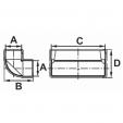 Schita tehnica ALLVENT ENGINEERING - Cot vertical 90 grade