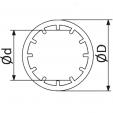 Schita tehnica ALLVENT ENGINEERING - Inel montare valve cu flansa