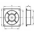 Schita tehnica ALLVENT ENGINEERING - Placa perete flansa