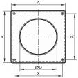 Schita tehnica ALLVENT ENGINEERING - Placa perete tub circular
