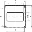 Schita tehnica ALLVENT ENGINEERING - Placa perete tub rectangular