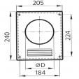 Schita tehnica ALLVENT ENGINEERING - Platforma flansa circulara grilaj