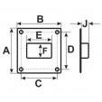 Schita tehnica ALLVENT ENGINEERING - Platforma flansa rectangulara
