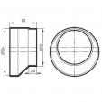 Schita tehnica ALLVENT ENGINEERING - Reductie circulara excentrica