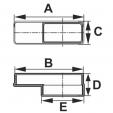 Schita tehnica ALLVENT ENGINEERING - Reductie rectangulara excentrica