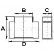 Schita tehnica ALLVENT ENGINEERING - Teu rectangular