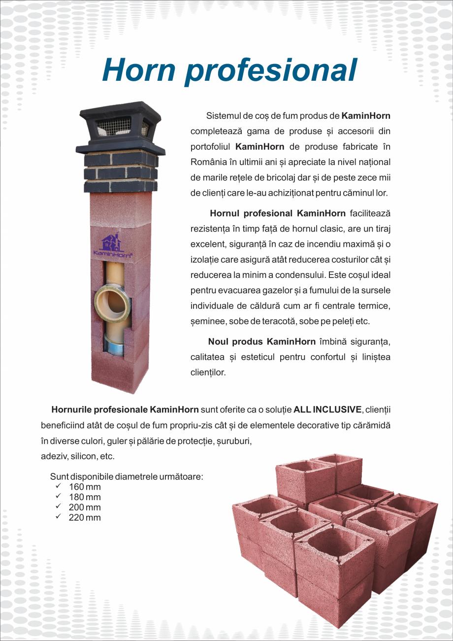 Pagina 6 - Catalog, brosura Hornuri profesionale si accesorii PremierHORN, EcoHORN, StarterHORN ,...