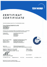 Certificare TUV NORD pereti mobili NUESING