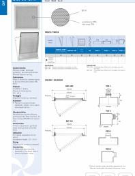 Difuzor perforat cu portfiltru si filtru pentru montaj in tavan casetat