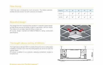 Unitate tip caseta, cu refulare pe 4 directii MITSUBISHI ELECTRIC