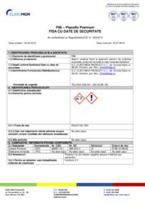 Adeziv si masa de spaclu pentru polistiren si vata minerala - Fisa cu date de securitate EURO MGA