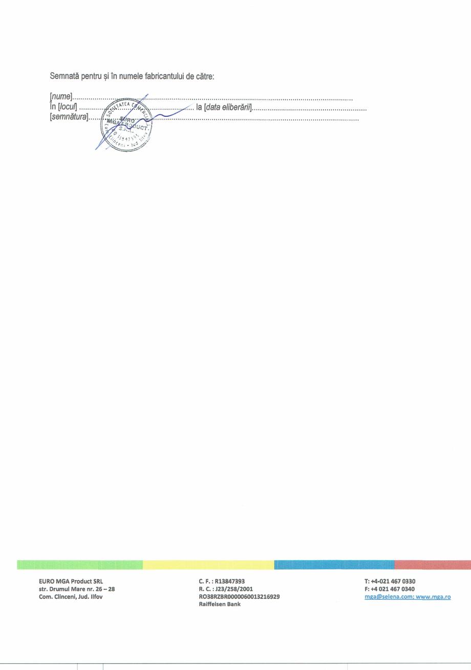 Pagina 2 - Declaratie de performanta adeziv pentru placari ceramice EURO MGA C9 Certificare produs...