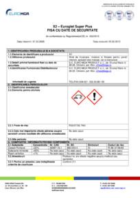 Glet de finisaj pentru interior - Fisa cu date de securitate EURO MGA