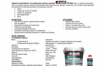 Adeziv poliuretanic bi-component Artelit