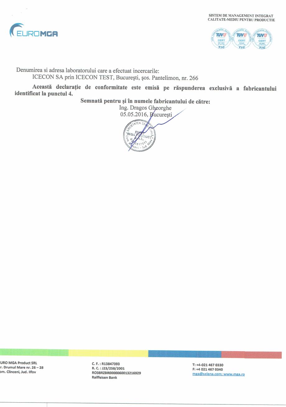 Pagina 2 - Declaratia de conformitate amorsa pentru tencuieli decorative acrilice si siliconice EURO...
