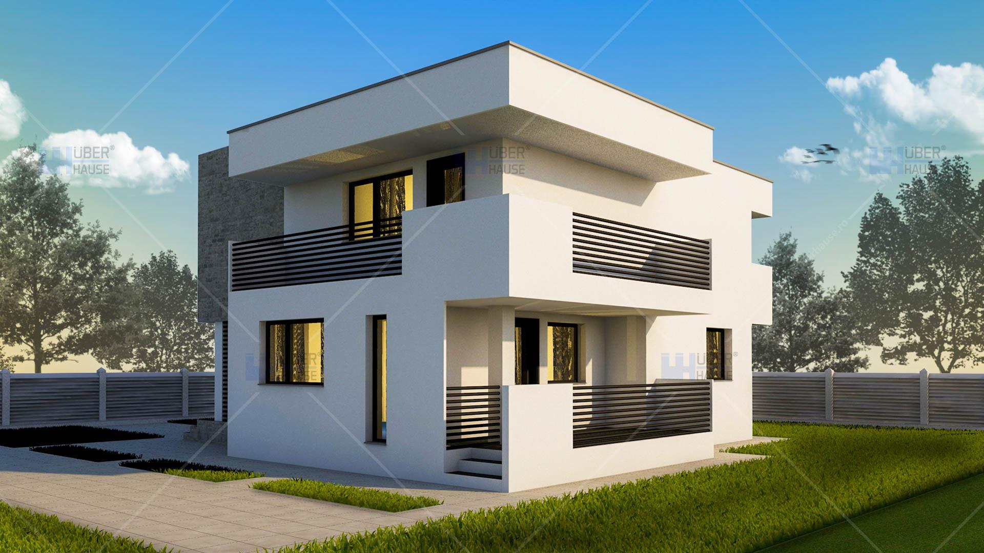 Lucrari proiecte proiect casa cubiqa uberhause poza 3 for Casa moderne