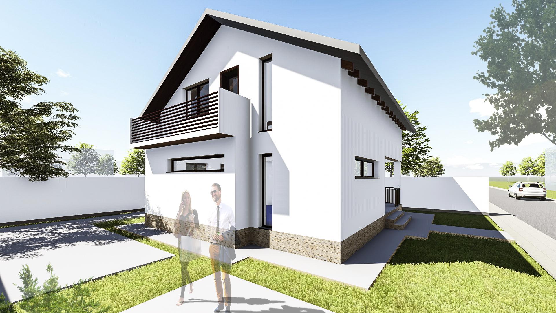 Lucrari proiecte proiect casa allena uberhause poza 7 for Proiect casa 100 mp fara etaj