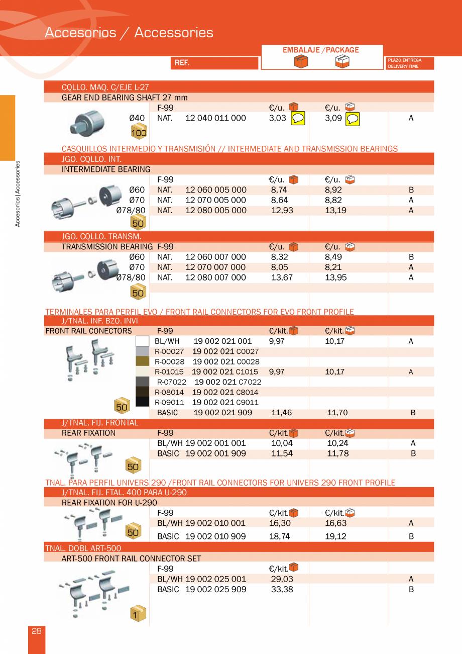 Pagina 58 - Lista de preturi LLaza LLAZA Bip 300, Bip 500, Maxi Screen, Aluminiu, Lemn Catalog,...