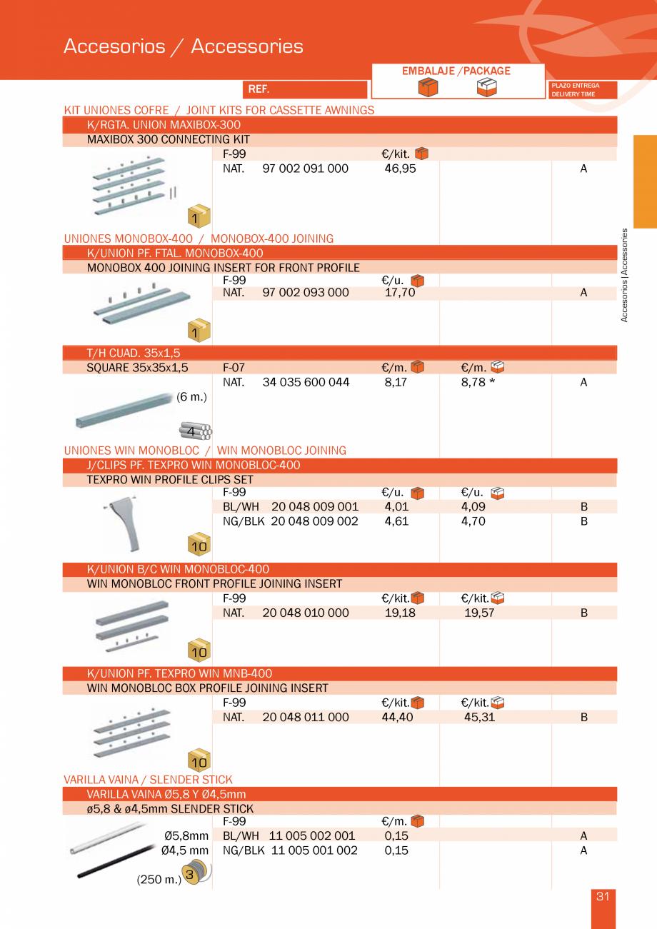 Pagina 64 - Lista de preturi LLaza LLAZA Bip 300, Bip 500, Maxi Screen, Aluminiu, Lemn Catalog,...