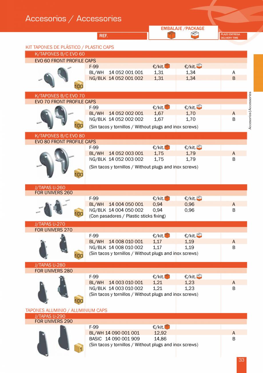 Pagina 68 - Lista de preturi LLaza LLAZA Bip 300, Bip 500, Maxi Screen, Aluminiu, Lemn Catalog,...