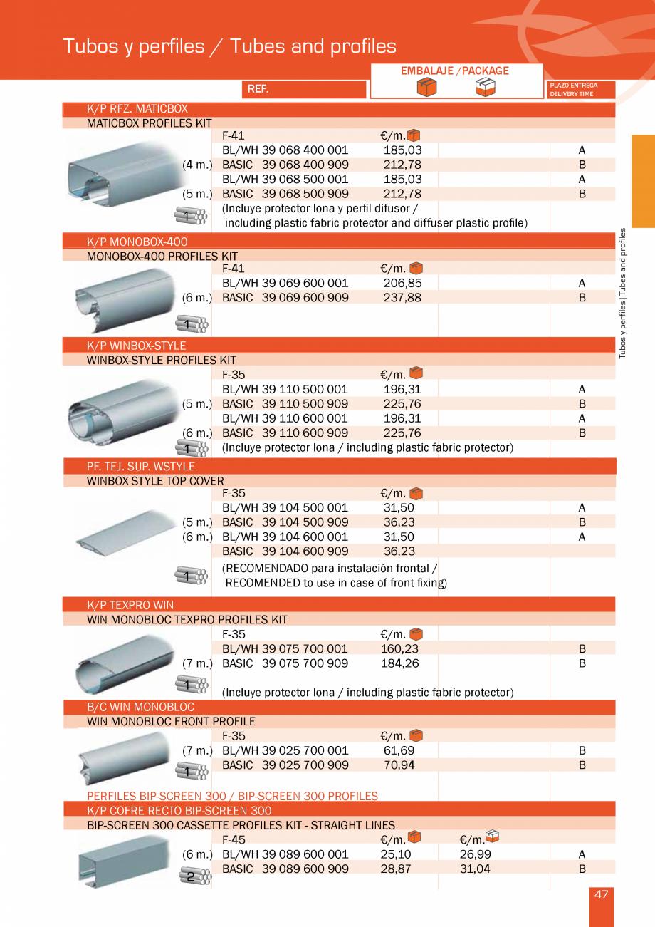 Pagina 96 - Lista de preturi LLaza LLAZA Bip 300, Bip 500, Maxi Screen, Aluminiu, Lemn Catalog,...
