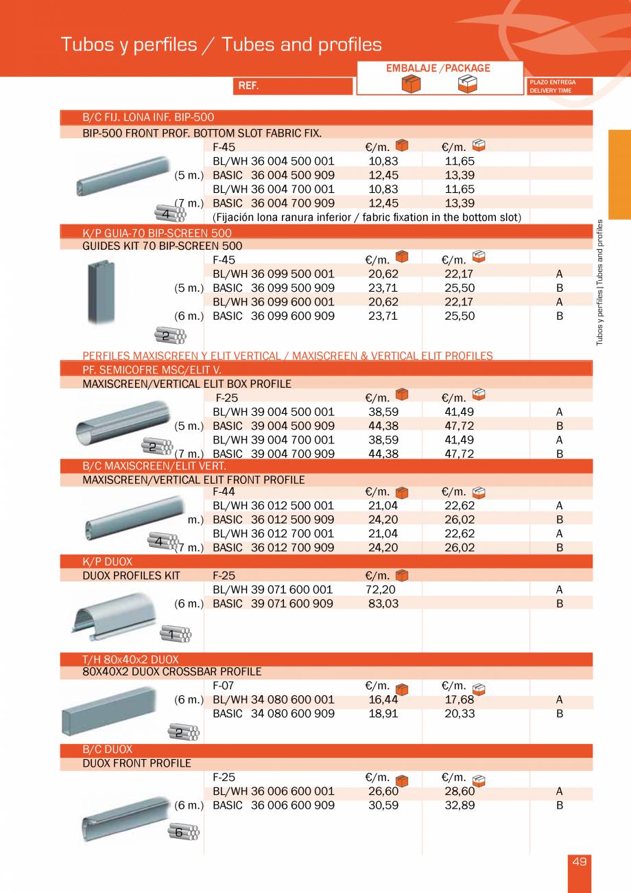 Pagina 100 - Lista de preturi LLaza LLAZA Bip 300, Bip 500, Maxi Screen, Aluminiu, Lemn Catalog,...