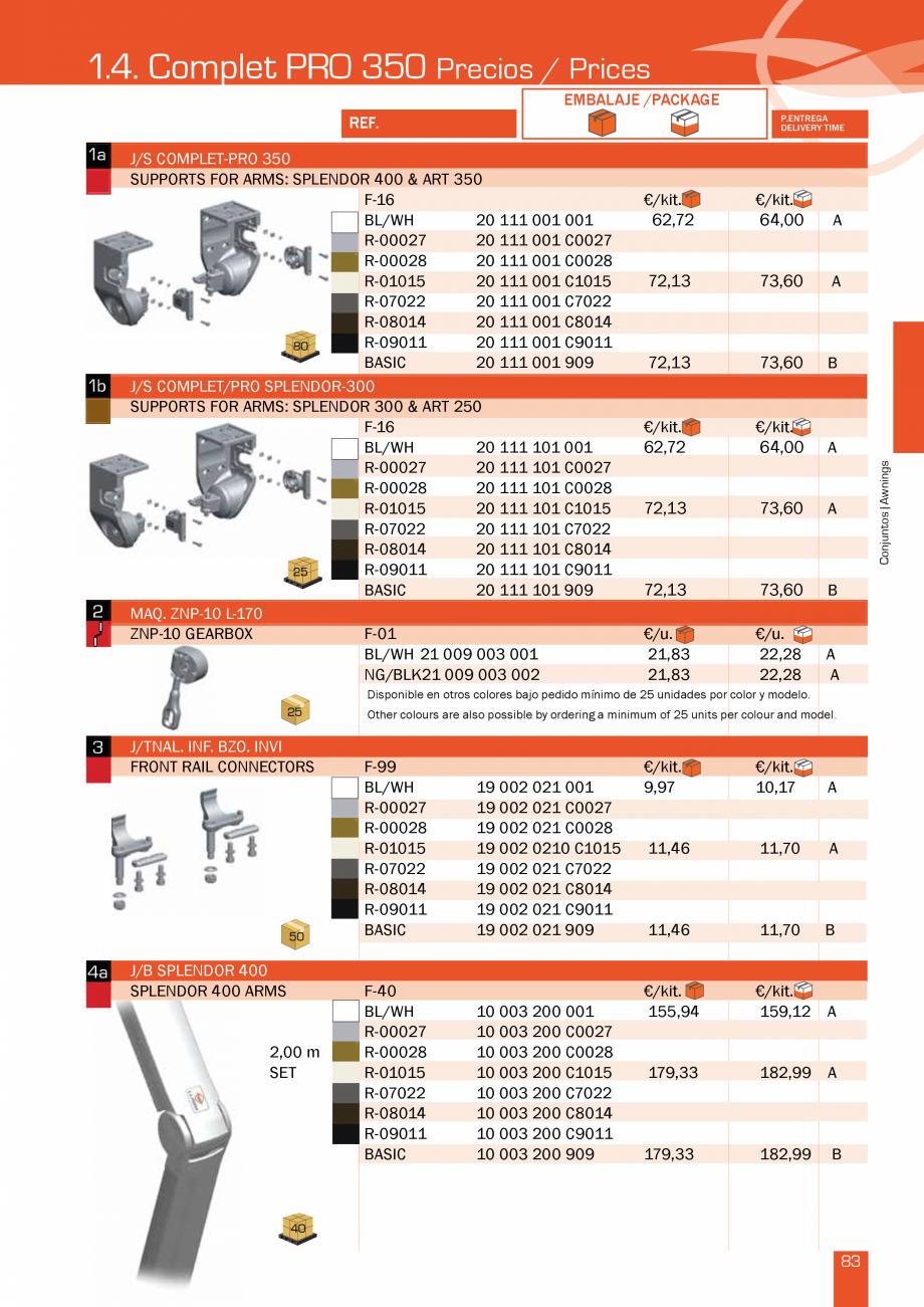Pagina 168 - Lista de preturi LLaza LLAZA Bip 300, Bip 500, Maxi Screen, Aluminiu, Lemn Catalog,...