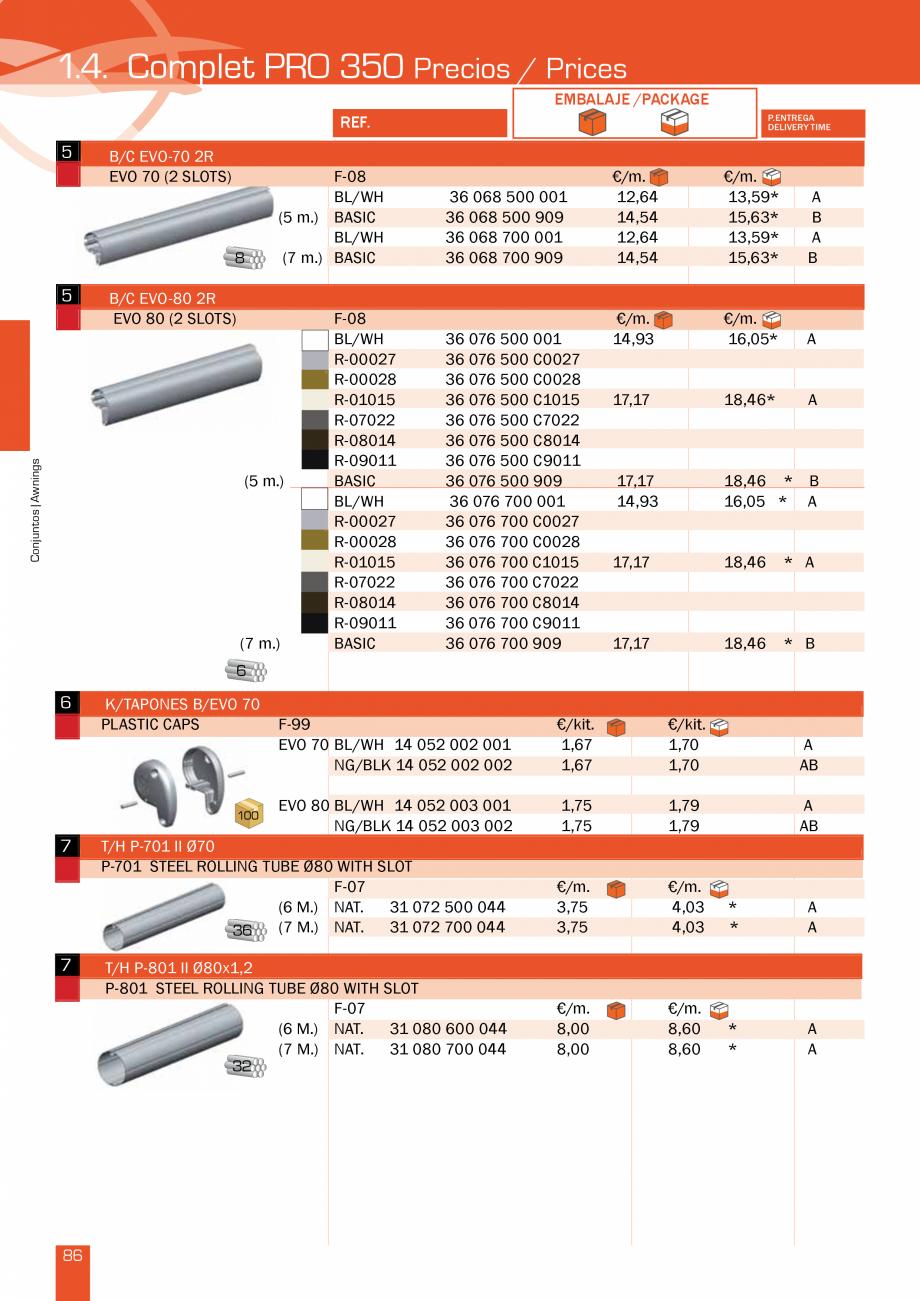 Pagina 174 - Lista de preturi LLaza LLAZA Bip 300, Bip 500, Maxi Screen, Aluminiu, Lemn Catalog,...