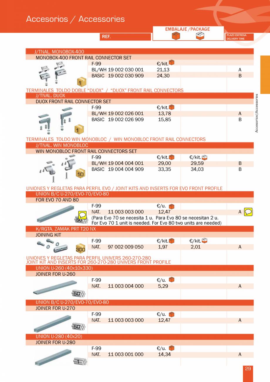 Pagina 59 - Lista de preturi LLaza LLAZA Bip 300, Bip 500, Maxi Screen, Aluminiu, Lemn Catalog,...