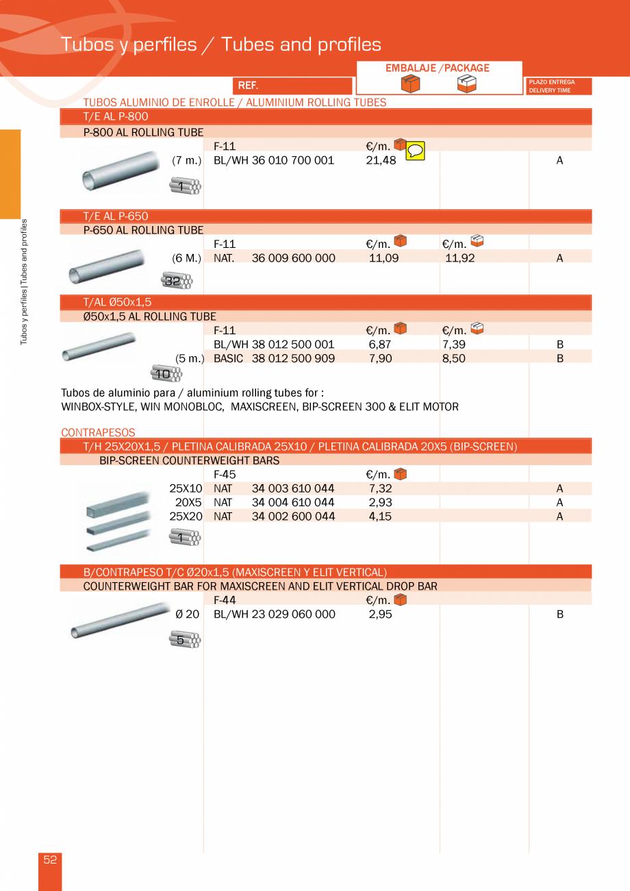 Pagina 105 - Lista de preturi LLaza LLAZA Bip 300, Bip 500, Maxi Screen, Aluminiu, Lemn Catalog,...
