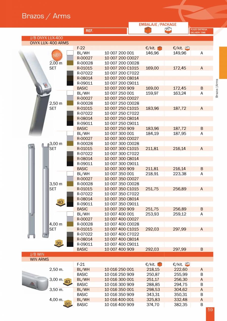 Pagina 119 - Lista de preturi LLaza LLAZA Bip 300, Bip 500, Maxi Screen, Aluminiu, Lemn Catalog,...