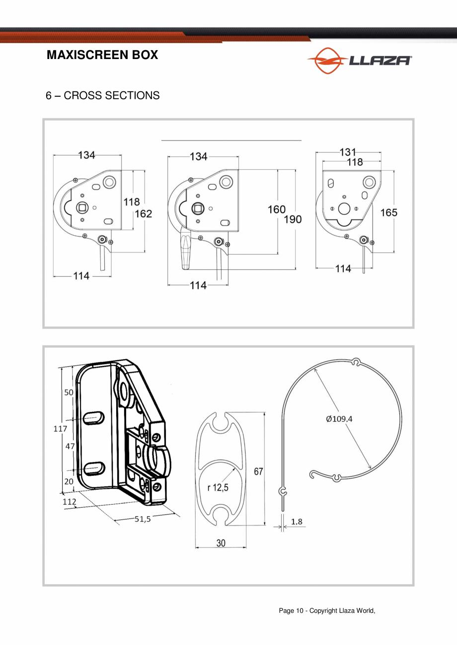 Pagina 10 - Rulou din material textil (Box) LLAZA Maxi Screen Fisa tehnica Engleza quirements of the...