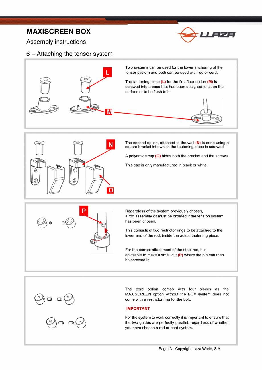 Pagina 14 - Rulou din material textil (Box) LLAZA Maxi Screen Fisa tehnica Engleza