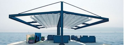 Pergola grea cu structura din aluminiu /  Pergola PGT Marine