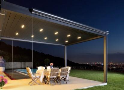 Pergola cu structura si lamele din aluminiu / Pergola PGT Sky Roof