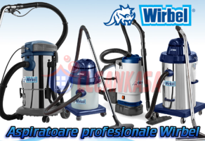 Aspiratoare profesionale si industriale CleanKasa va ofera aspiratoare profesionale si aspiratoare industriale marca WIRBEL la cele mai mici preturi.