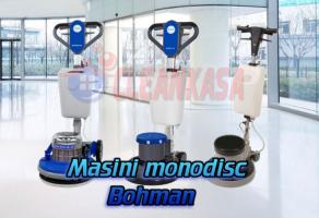 Masini monodisc pentru curatat sau slefuit pardoseli Masinile monodisc Bohman sunt echipamente profesionale, multifunctionale si fabricate din materiale robuste de inalta calitate, indispensabile pentru curatenie.