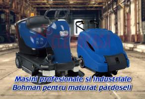 Masini si echipamente de maturat Masinile de maturat profesionale Bohman sunt de cea mai buna calitate si se remarca prin constructia mecanica si robusta, motoarele de aspiratie puternice, fiind ideale pentru utilizarea in domeniul profesional si industrial, atat la interior, cat si pentru exterior.