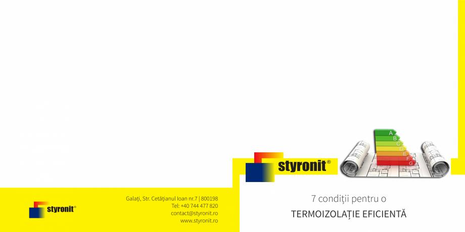 Pagina 1 - E-book STYRONIT - 7 conditii pentru o termoizolatie eficienta  Catalog, brosura Romana...