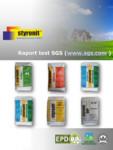 Raport test auditor SGS Elvetia - STYRONIT