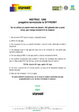 Instructiuni pregatire termoizolatie STYRONIT STYRONIT