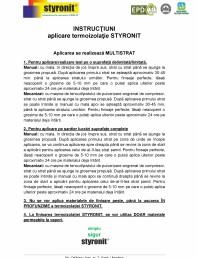 Instructiuni aplicare termoizolatie STYRONIT