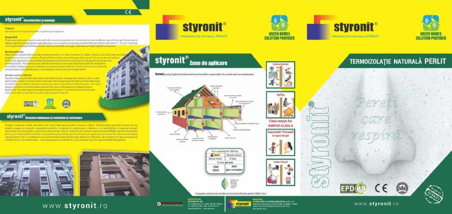 Pagina 1 - Termoizolatie naturala pe baza de perlit STYRONIT STYRONIT Horasan Catalog, brosura...