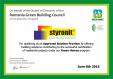 Certificare GREEN RoGBC_STYRONIT STYRONIT - STYRONIT Horasan