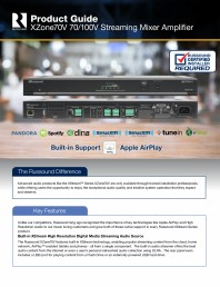 Amplificator si mixer cu streaming integrat