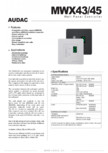 Panou de control MWX43-45 AUDAC - MTX48