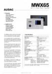 Panou de control MWX65 / Sisteme audio si sonorizare multizone / PETEA Sound