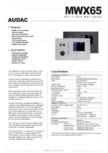 Panou de control MWX65 AUDAC - MTX48