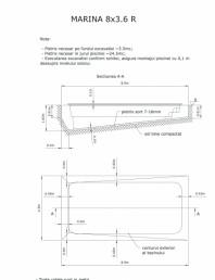 Schita excavatie piscine Marina -8 X 3,6